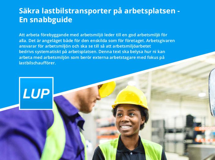 Ny guide till säkrare lastbilstransporter på arbetsplatsen